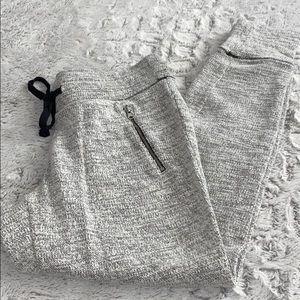 Aerie black & White Soft Heathered Joggers